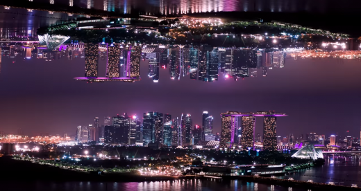 aerial hyperlapse journey through Singapore