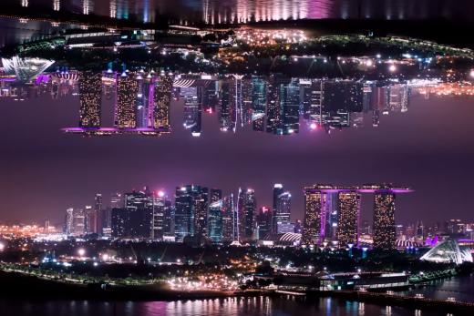 aerial hyperlapse journey through Singapore